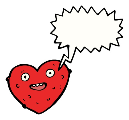 cartoon heart with speech bubble Stock Vector - 16240660