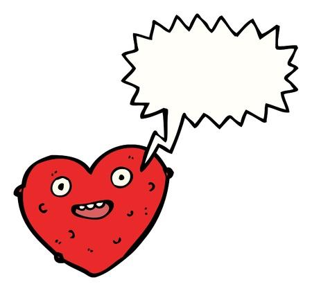 cartoon heart with speech bubble Stock Vector - 16240660