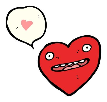 cartoon heart with speech bubble Stock Vector - 16240644