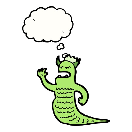 cartoon creature with speech bubble Stock Vector - 16239878