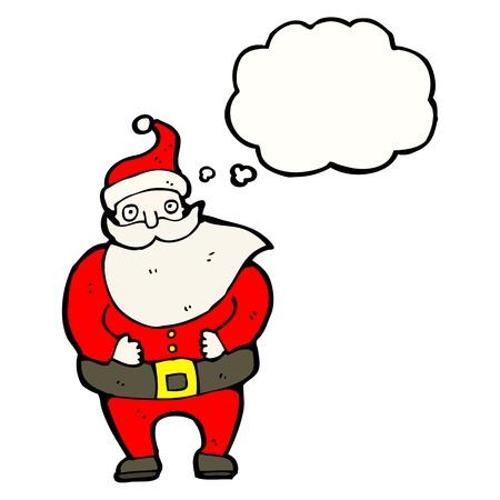 cartoon santa with speech bubble Stock Vector - 16239884