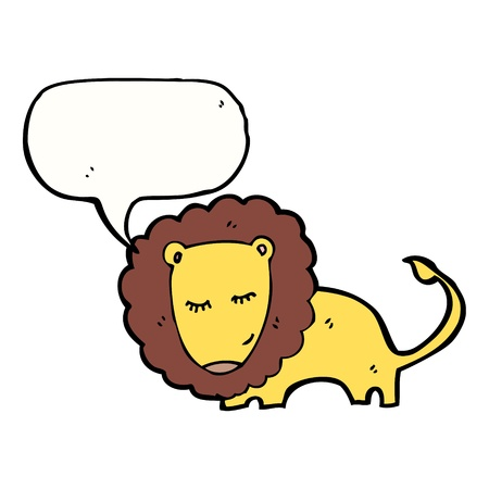 cartoon lion with speech bubble Vector