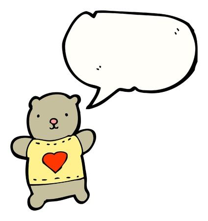 cartoon teddy bear with speech bubble Stock Vector - 16175195