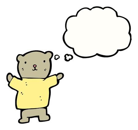 cartoon teddy bear with speech bubble Stock Vector - 16175174