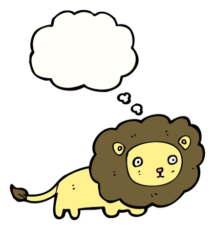 cartoon lion with speech bubble Stock Vector - 16170043