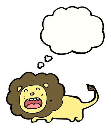 cartoon lion with speech bubble Stock Vector - 16170041