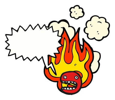 cartoon fire: cartoon fire  Illustration