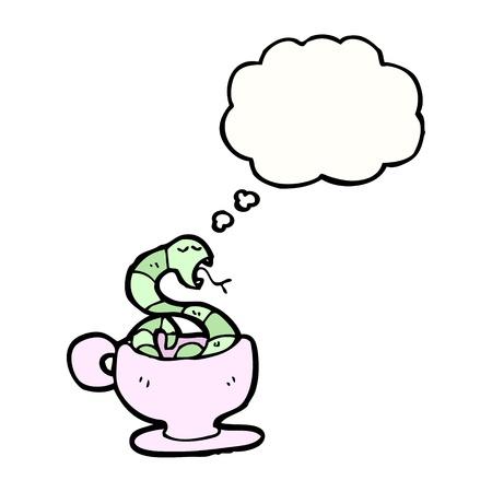 bijschrift: cartoon slang met bijschrift box