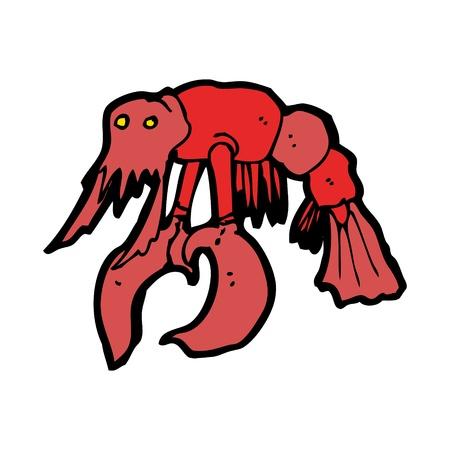 cangrejo caricatura: cangrejo rojo de dibujos animados