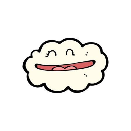 cartoon cloud with smiley face Stock Vector - 16140580