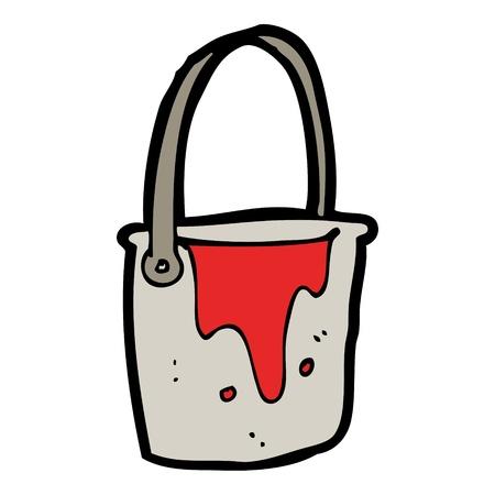 pail: red pail