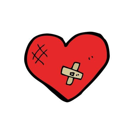 cartoon of a mended heart Illustration