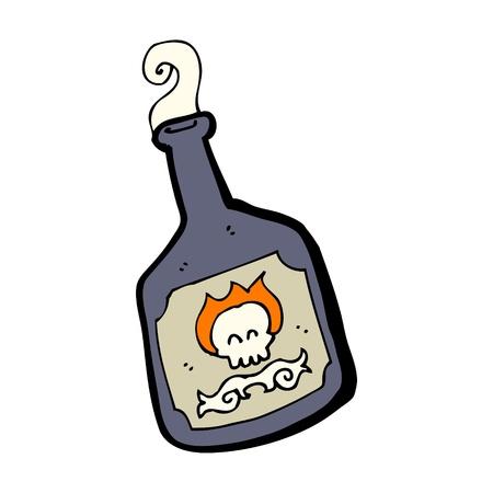 veneno frasco: dibujos animados botella de veneno