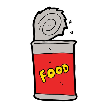 cartoon canned food