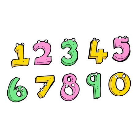 cartoon collage of numeric numbers Stock Vector - 16130610