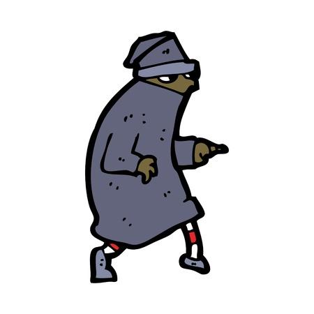cartoon character of a thief Stock Vector - 16130596