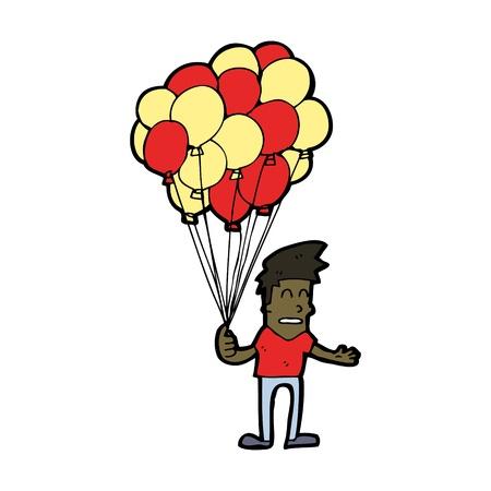 cartoon boy with balloons Stock Vector - 16130318