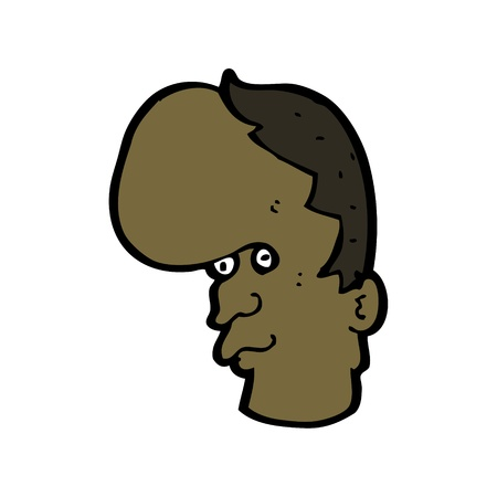 forehead: cartoon character of a man with a huge forehead