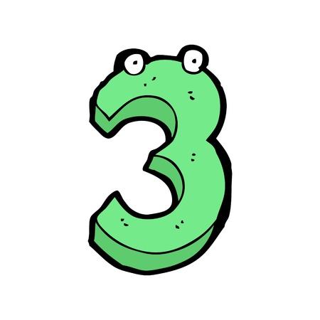 numeric: cartoon numeric 3