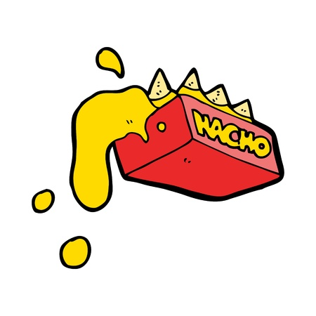 cartoon box of nachos