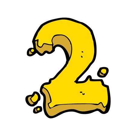 numeric: cartoon numeric 2 Illustration