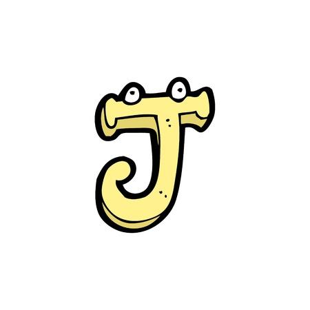 cartoon alphabet J Illusztráció