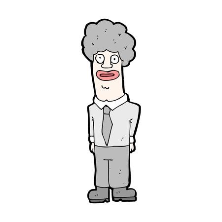 crazy hair: cartoon character of a man