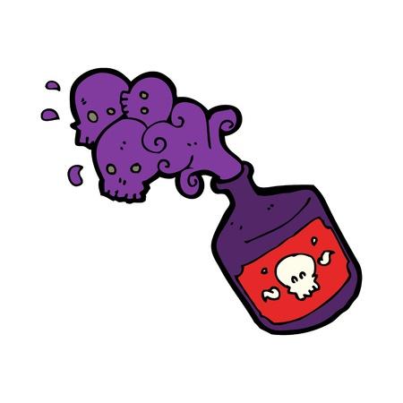 poison bottle: cartone animato veleno bottiglia Vettoriali