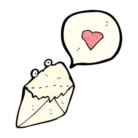 cartoon love letter Stock Vector - 20355016