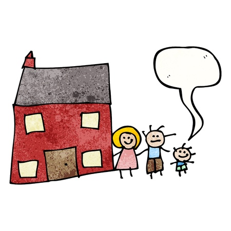 Child s drawing of a family home Vector