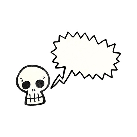 shrieking: Retro cartoon with texture. Isolated on White.