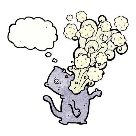 burp: Retro cartoon with texture. Isolated on White.