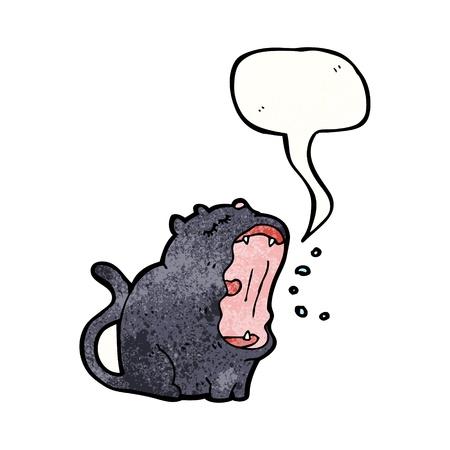 yawing: De dibujos animados retro con textura. Aislado en blanco.