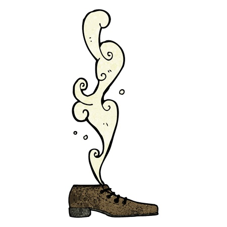 Retro cartoon with texture. Isolated on White. Vektorové ilustrace