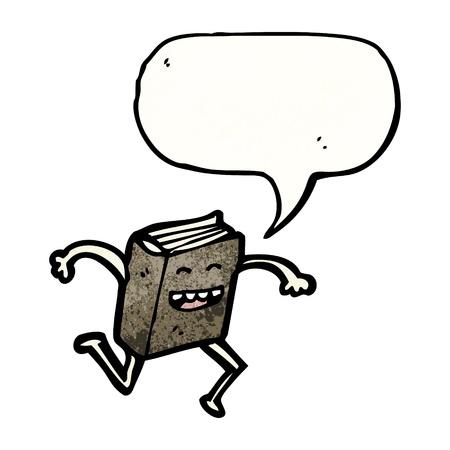 libro caricatura: De dibujos animados retro con textura. Aislado en blanco.