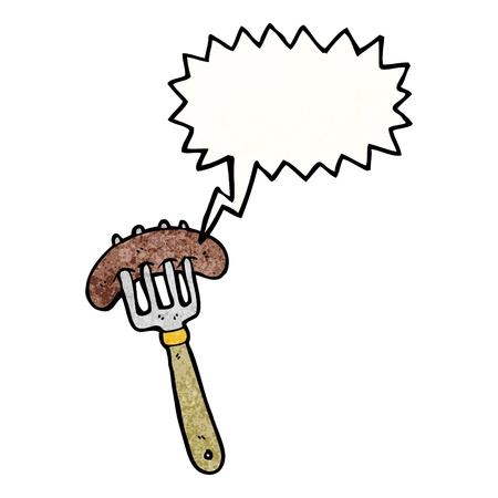 stabbed: De dibujos animados retro con textura. Aislado en blanco.