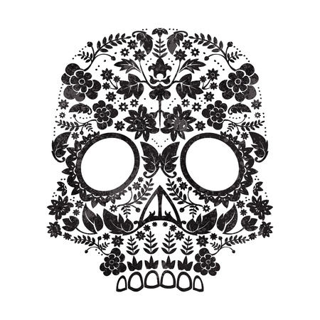 Day of the Dead Sugar Skull  Illustration Фото со стока - 21563738
