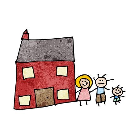 Retro cartoon met textuur. Geïsoleerd op wit. Stockfoto - 21563891