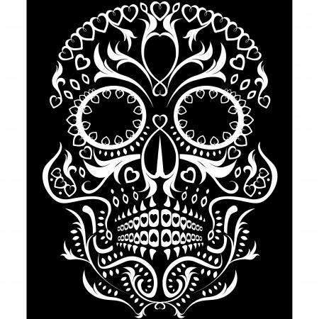 przerażający: Day of the Dead ilustracji czaszki cukru