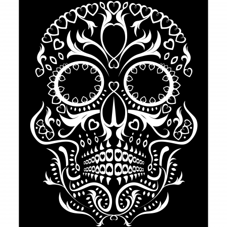 totenk�pfe: Tag der Toten Sugar Skull Illustration