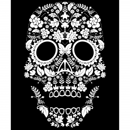 Day of the Dead Sugar Skull  Illustration