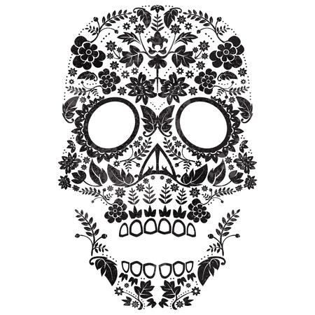 Dag van de Dode Schedel Illustratie