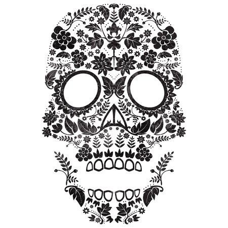 Day of the Dead Sugar Skull  Illustration Vector