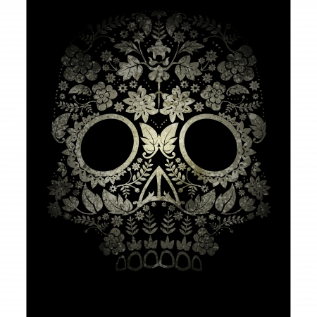 skull tattoo: Day of the Dead Sugar Skull  Illustration