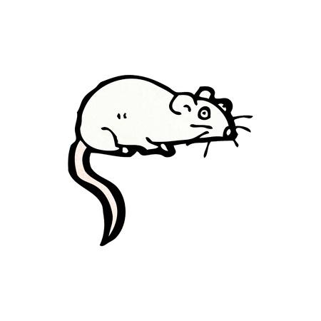 raton caricatura: De dibujos animados retro con textura. Aislado en blanco.
