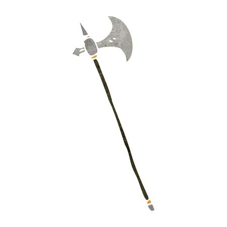 cartoon medieval axe