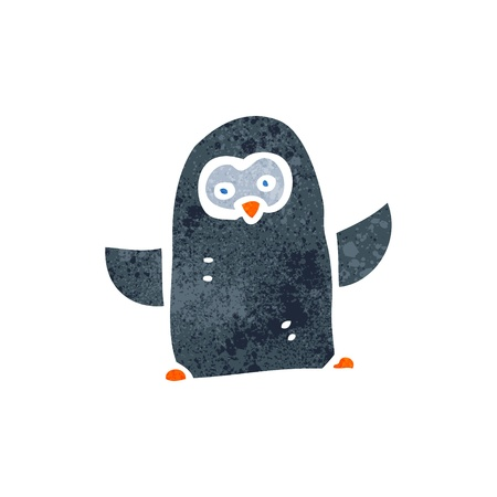 Cartoon penguin Ilustrace