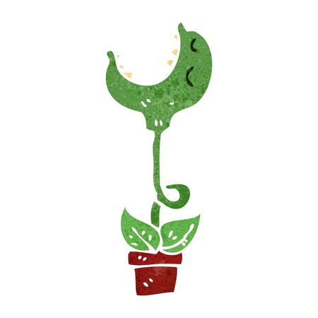 cartoon carnivorous flower Vector