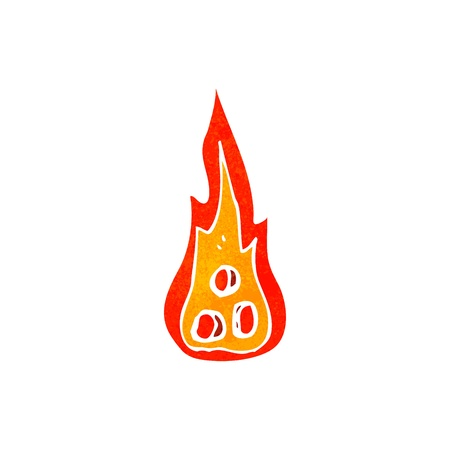 coals: Retro cartoon illustration. On plain white background.