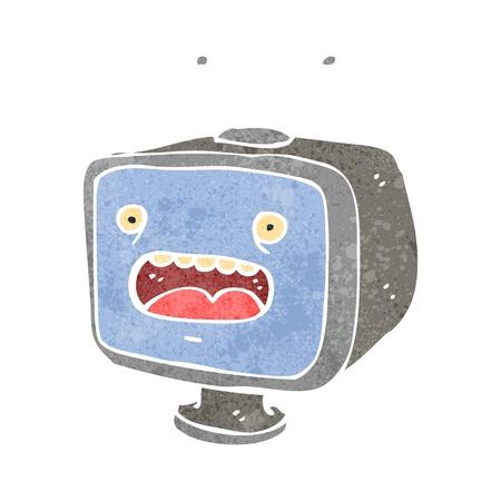 set de television: set retro televisi�n de dibujos animados